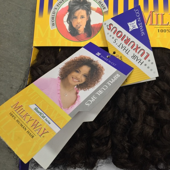 Shake N Go Other Milky Way 100 Human Hair Weave Short Light Brown